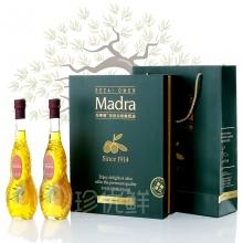 玛蒂娜特级初榨橄榄油500ml*2礼盒(耀世尊享花瓶)
