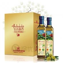 安达露西原装原瓶进口橄榄油750ml*2礼盒
