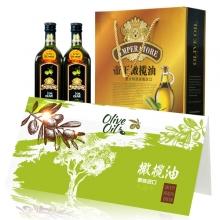 帝王原装进口橄榄油1000ml*2金樽礼盒礼劵礼品卡