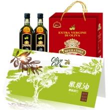 帝王原装进口橄榄油1000ml*2红典礼盒礼劵礼品卡